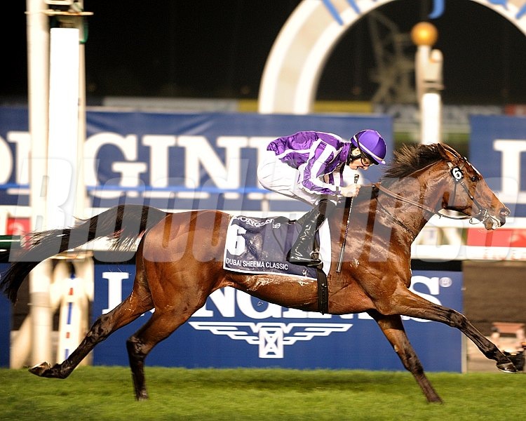 Coolmore and partners' St Nicholas Abbey spoiled the international debut of sensational filly Gentildonna as he drew off in the stretch from the reigning Japanese Horse of the Year. Gentildonna finishes 2nd in the race.