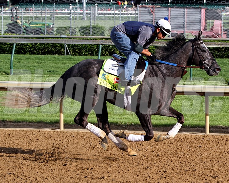 Frac Daddy on the track at Churchill Downs on May 2, 2013. Photo By: Chad B. Harmon