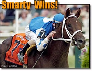 Smarty Jones Electrifies in Preakness Romp