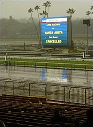 Heavy Rain Forces Santa Anita to Cancel