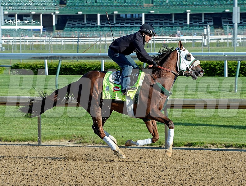 Mr. Z works two furlongs at Churchill Downs on April 28, 2015, in Louisville, Ky.