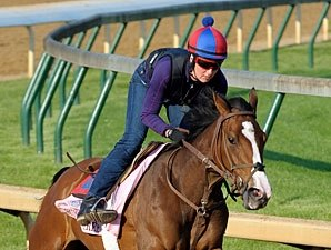 R Heat Lightning Leads Kentucky Oaks Work Tab