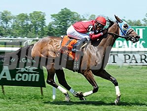 Invading Humor wins the Mount Vernon Stakes.