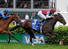 Tizaqueena Holds Up in Distaff Turf Mile