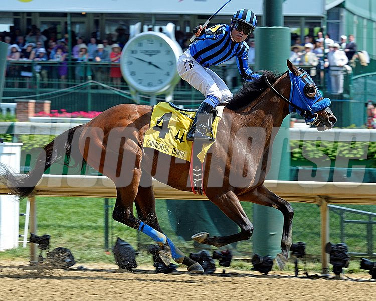 Caption:  Private Zone with Martin Pedroza wins the Churchill Downs (gr. II).