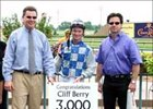 Cliff Berry Wins 3,000th Thoroughbred Race