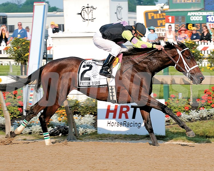 Payton d'Oro with Terry Thompson win the Black-Eyed Susan Stakes (gr. 2) at  Pimlico.