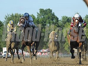 Untapable (right) and Stopchargingmaria rematch Aug. 29 in the Personal Ensign