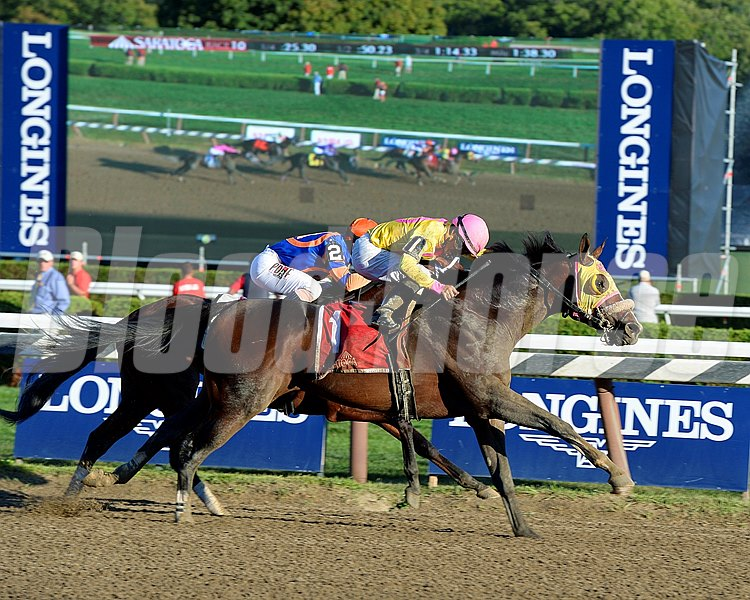 Good Luck Gus captures the Albany Stakes at Saratoga.