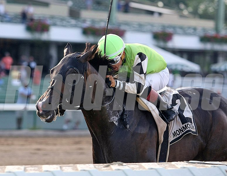 Crossed Sabres Farm's Valid outdueled favorite Bradester before shaking loose to win the $150,000 Philip H. Iselin Stakes (gr. III) at Monmouth Park.