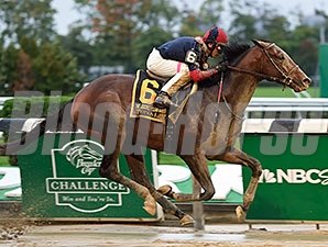 Tonalist earned the week's top Equibase Speed Figure in the Oct. 3 Jockey Club Gold Cup