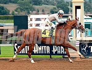 California Chrome returns a winner in the San Pasqual Stakes.