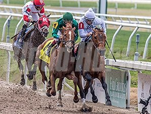 Majestic Harbor (rail) holds off Eagle to win the grade III Mineshaft at Fair Grounds