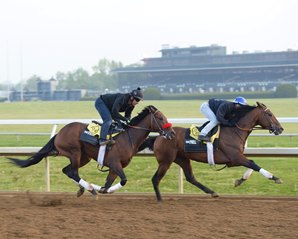 Nyquist Smooth in Keeneland Breeze