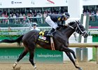 Sharp Azteca Blazes Home in Pat Day Mile