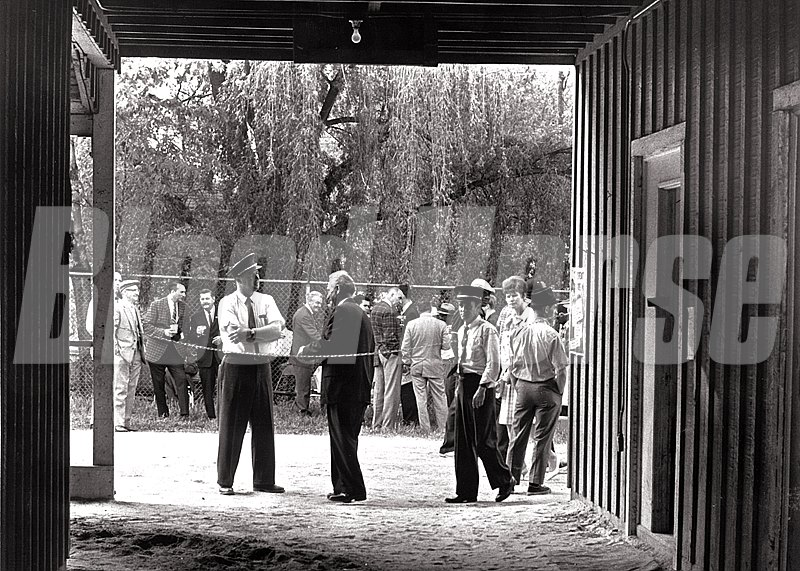 Champagne Party at the Kauai King stable after the 1966 Preakness Stakes