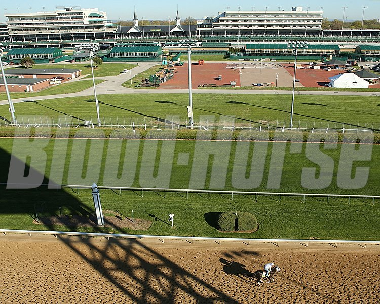 Churchill Downs track scene April 13, 2016