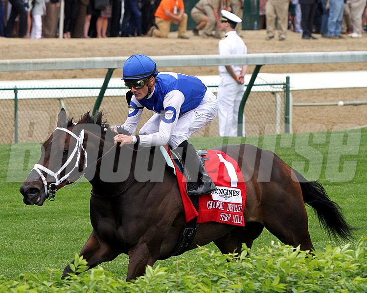 Tepin with Julien Leparoux win the 31st Running of The Churchill Distaff Turf Mile (GII) at Churchill Downs on May 7, 2016.