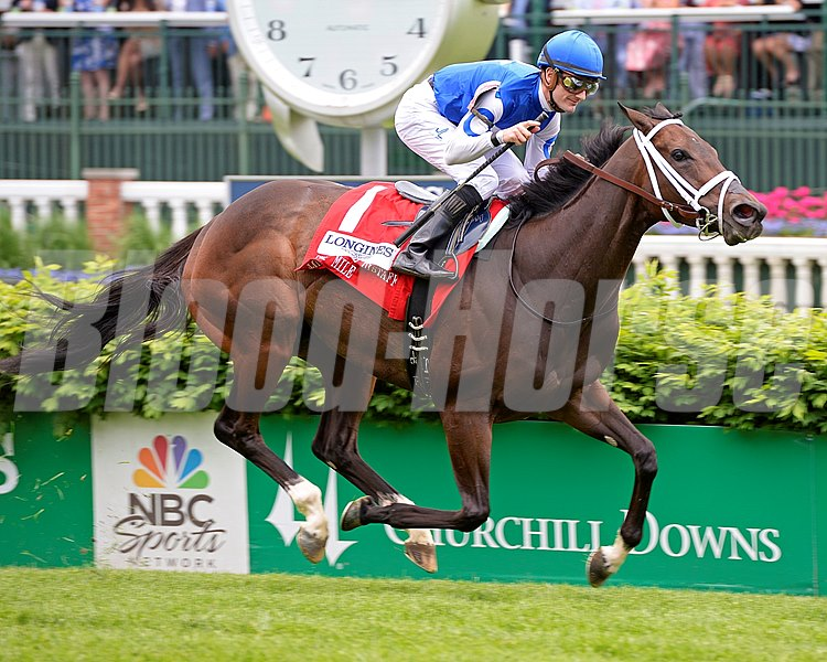 Tepin with Julien Leparoux wins the Churchill Distaff Turf Mile (gr. II) Kentucky Derby day at Churchill Downs on May 7, 2016, in Louisville, Ky.