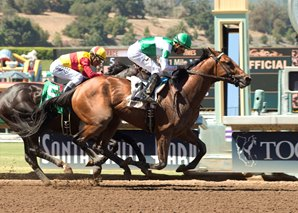 Dalmore Upsets Danzing Candy in Affirmed