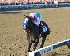 Arrogate Blazes to Travers Record