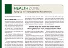 Health Zone: Tying-up in Thoroughbreds