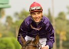 Jockey Olguin Secures Milestone Win
