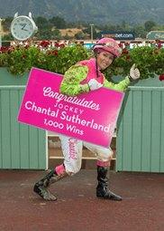 Jockey Chantal Sutherland Reaches 1,000 Wins