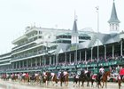 Despite Wet Weather, Near-Record Handle for Oaks Day