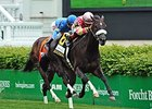 "A Little Bit Sassy breaks from the far outside in the  Lake George Stakes.<br><a target=""blank"" href=""http://photos.bloodhorse.com/AtTheRaces-1/At-the-Races-2014/i-vxgKtTL"">Order This Photo</a>"