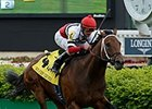 "Marchman wins the 2014 Twin Spires Turf Sprint. <br><a target=""blank"" href=""http://photos.bloodhorse.com/AtTheRaces-1/At-the-Races-2014/i-kHXF6nb"">Order This Photo</a>"