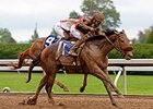 "Peace and War upsets the Darley Alcibiades at Keeneland.<br><a target=""blank"" href=""http://photos.bloodhorse.com/AtTheRaces-1/At-the-Races-2014/i-5qbF8Ld"">Order This Photo</a>"