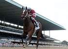"Untapable leaves the competition behind in the Mother Goose Stakes.<br><a target=""blank"" href=""http://photos.bloodhorse.com/AtTheRaces-1/At-the-Races-2014/i-wkjt8wD"">Order This Photo</a>"