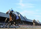 "Moreno leads the way to victory in the Whitney.<br><a target=""blank"" href=""http://photos.bloodhorse.com/AtTheRaces-1/At-the-Races-2014/i-k5m3bvn"">Order This Photo</a>"