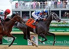 "Fiftyshadesofgold won the 2014 Eight Belles Stakes. <br><a target=""blank"" href=""http://photos.bloodhorse.com/AtTheRaces-1/At-the-Races-2014/i-KJvDJpZ"">Order This Photo</a>"