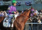 "California Chrome<br><a target=""blank"" href=""http://photos.bloodhorse.com/TripleCrown/2014-Triple-Crown/Belmont-Stakes-146/i-Dc7x8wC"">Order This Photo</a>"