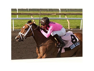 Lexie Lou makes her turf debut Aug. 10 in the Wonder Where Stakes.