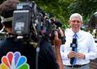 Mike Battaglia with NBC at the Belmont Stakes on June 6.