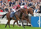 "Charm Spirit gets the victory in the QIPCO Queen Elizabeth II Stakes.<br><a target=""blank"" href=""http://photos.bloodhorse.com/AtTheRaces-1/At-the-Races-2014/i-NZ553cc"">Order This Photo</a>"
