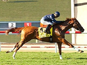 Personal Diary flies home to take the Del Mar Oaks.