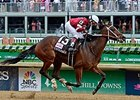 "Untapable wins the 2014 Longines Kentucky Oaks. <br><a target=""blank"" href=""http://photos.bloodhorse.com/AtTheRaces-1/At-the-Races-2014/i-cF33rSd"">Order This Photo</a>"