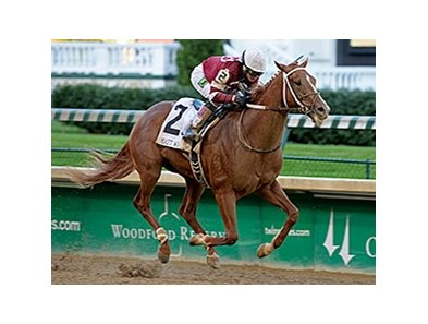 "Tapiture and Rosie Napravnik dominate the Matt Winn.<br><a target=""blank"" href=""http://photos.bloodhorse.com/AtTheRaces-1/At-the-Races-2014/i-TqvFjFK"">Order This Photo</a>"