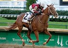Tapiture winning the 2014 Matt Winn Stakes.