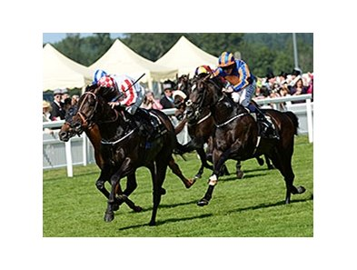 "Slade Power takes the Diamond Jubilee at Royal Ascot.<br><a target=""blank"" href=""http://photos.bloodhorse.com/AtTheRaces-1/At-the-Races-2014/i-cdhZ3LX"">Order This Photo</a>"