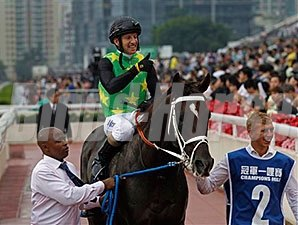 Variety Club after winning the recent Champions Mile at Sha Tin in Hong Kong.
