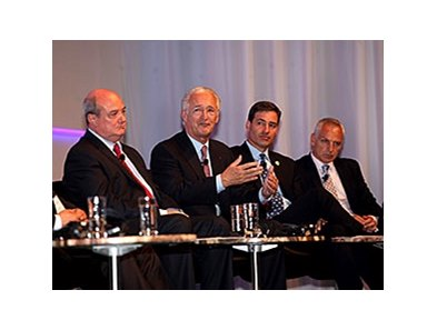 (From left to right) Panelists Dr Paul Marie Gadot, representative of France Galop; Louis Romanet, Chairman of IFHA; James L. Gagliano, President and Chief Operating Officer of The Jockey Club, and Paul Bittar, Chief Executive of British Horseracing Autho