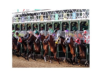 The start of Kentucky Derby 140.