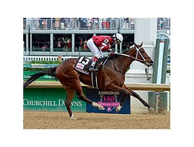 "Kentucky Oaks winner Untapable faces 5 in the Mother Goose.<br><a target=""blank"" href=""http://photos.bloodhorse.com/AtTheRaces-1/At-the-Races-2014/i-F58H6LD"">Order This Photo</a>"