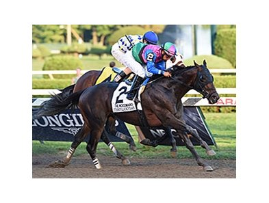 "Itsmyluckyday fights off Moreno to win the Woodward.<br><a target=""blank"" href=""http://photos.bloodhorse.com/AtTheRaces-1/At-the-Races-2014/i-mDj3wXV"">Order This Photo</a>"