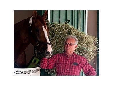California Chrome with Art Sherman at Pimlico